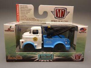 M2 R 29 1/64 scale AutoTrucks 1957 Dodge COE Tow Truck Wrecker Blue White MIB