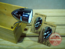 Vintage Bicycle Front Light / Retro Metal Bicycle Front Lamp / Classic LED Head