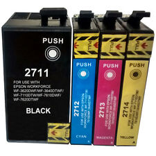 27XL Mulipack BCMY Ink Cartridges For Epson WF-7620 27 Alarm Clock Non OEM