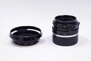 Exc+++ LEITZ Leica Summicron-M 35mm/F2.0 35/2 E39 6 Elements Lens Canada w/ Hood