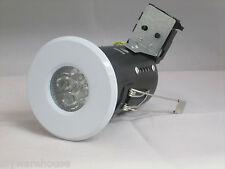 1 X White Fire Rated Bathroom Downlights Waterproof Ip65 Lights Gu10