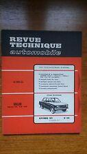 RTA Revue technique  n° 305 Volvo 142 144 145 Citroen Dyane méhari Fiat 124