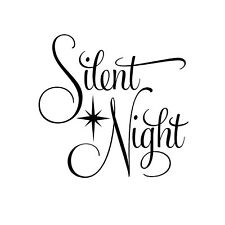 Silent Night Unmounted Rubber Stamp - Religious Christmas Carol #26