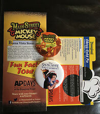 Disneyland Exclusive AP Days Main Street Mickey Mouse Walt Button Disney Pin