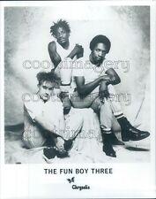 1982 Terry Hall Neville Staple Lynval Golding Fun Boy Three 1980s Press Photo