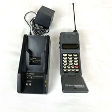 Vintage Motorola MegaPhone Cell Phone With Charger Base Model 76252WNFBB - RARE!