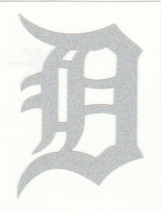 REFLECTIVE Detroit Tigers 2 inch fire helmet decal sticker RTIC window