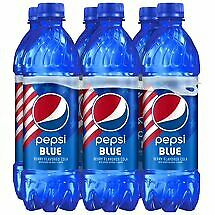 FREE SHIPPING ** LIMITED EDITION PEPSI BLUE 6 x 16.9oz bottles!