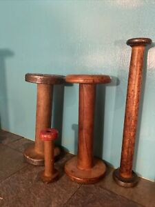 Vintage Wooden Textile Spools Clearance Lot 4