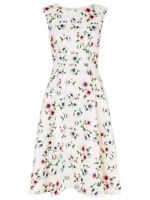 Hobbs Nova Floral Mini Skater Dress Shift Occasion Party Cocktail 10 38 NEW
