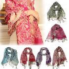 Boho Women Fashion Scarf Retro Tassel Long Soft Tassels Scarves Wrap Shawl Stole