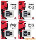 Kingston 8GB 16GB 32GB 64GB Class 10 microSD SD SDHC SDXC Flash Memory Card Lot