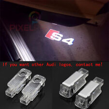 Audi S4 2Pcs LED Light HD Logo Projector Emblem Ghost Shadow Door Welcome Light