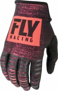 2019 Fly Racing Kinetic Noiz Youth MX Motocross Enduro Off Road Gloves Neon Red