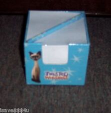 """NEW TWISTED WHISKERS SIAMESE CAT """"FAB-U-LOUS"""" MEMO CUBE WITH PAPER & PENCIL"""