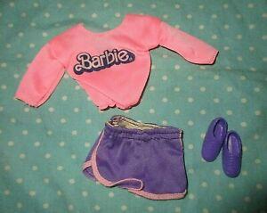 1978 Barbie Best Buy 2551 pink purple jogging shorts fashion clothes Superstar