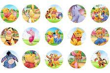 15 Pre-Cut Winnie The Pooh 1 Inch Bottle Cap Images