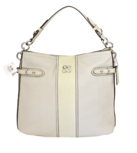 New NWT Coach Colette Ivory Off White Chalk Pebbled Leather Shoulder Hobo Purse