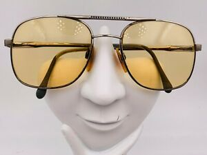 Vintage Luxottica Jim Gold Metal Aviator Sunglasses Italy  FRAMES ONLY