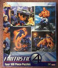 Pressman Fantastic 4 Marvel Four 100 Piece Puzzles New 2005
