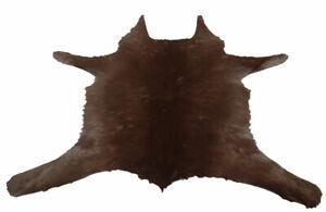"""Cowhide Rugs Calf Hide Cow Skin Rug (28""""x28"""") Dark and light Brown CH8193"""