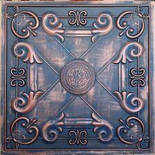 PL22 Faux tin aged copper sculpture ceiling tile cafe deco wall panel 10tile/lot