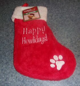 Brand New Dog Christmas Stocking Happy Howlidays For Dog Rescue Charity