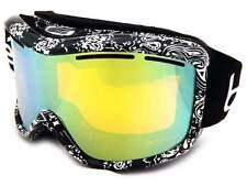 BOLLE MONARCH womens Snow Ski Goggles Black Bandana / Citrus Gold Mirror 20941
