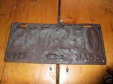 MASS 1928 Cod Fish License Plate # 207250