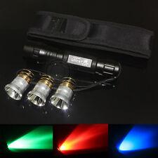 UltraFire 501B CREE Red Light and Green Light and Blue light Bulb LED Flashlight