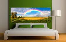 Sticker tête de lit décoration murale Arc en ciel réf 3673 (5 dimensions)