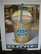 2007 Ryan Adams Cardinals Seattle Moore Theatre Easy Tiger Tour Concert Poster