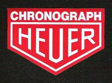 Heuer Chronograph Sticker, Le Mans, Steve McQueen, Sports Car Racing Decal