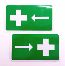 FIRST AID sticker/decal OH&S, pack of 2, weatherproof, UV stable, Workplace, Box