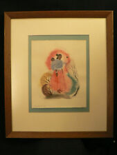 """PAINTING WATERCOLOR Signed DALE NICHOLS SOUTHWEST  """"MADONNA AND CHILD""""'- 1943"""