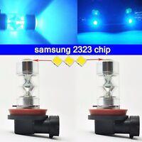 8000K ice Blue H11 H8 fog Light SAMSUNG 2323 LED 60W Projector Driving Bulbs DRL