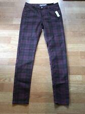 TOPSHOP MOTO LEIGH Tartan Plaid Skinny Jeans NWT $86, size 26