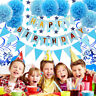Happy Birthday Party decorations Banner Bunting Balloons Child Adult 1st-70th.