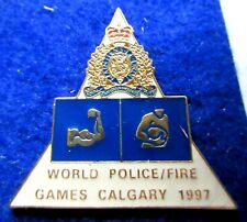 WORLD - POLICE  FIRE GAMES 1997  strongmen pin