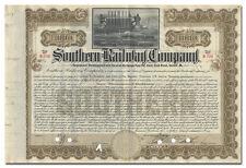 Southern Railway Company Bond Certificate