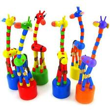 Baby Kids Intelligence Toy Dancing Stand Colorful Rocking Giraffe Wooden Toy