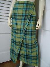 RHAPSODIE DE WEINBERG Sz 40 Fr (US 8) Skirt Stretch Wool Long Straight Faux Wrap