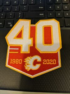 Calgary Flames 40th Anniversary Patch