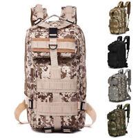 30L Backpack Hiking Camping Bag Army Military Tactical Trekking Rucksack Camo