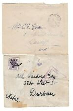 TWO SOUTH AFRICA BOER WAR COVERS 1 BRITISH FORCES 1 CENSOR MIXED CONDITION 64*