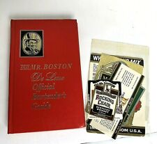 1968 Old Mr. Boston De Luxe Official Bartenders Guide Leo Cotton With Labels