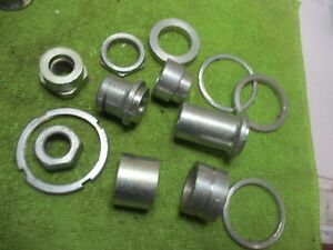ajs matchless rear wheel spacers etc, job lot