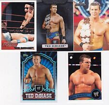 TOPPS WWE BORN IN BATON ROUGE LOUISIANA 5 TED DIBIASE WRESTLING CARDS SEE SCAN