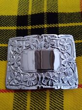 Scottish Kilt Belt Buckle Thistle Crest Chrome Finish/Kilt Belt Buckle/kilt
