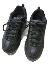 Skechers Black Elite Leather Trainers size 6.5
